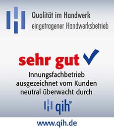 qih (Qualität im Handwerk): Note Sehr Gut